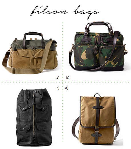Filson bags as diaper bags
