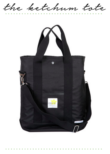 merin designs ketchum tote all black