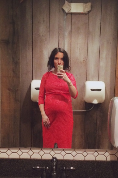 asos maternity red dress