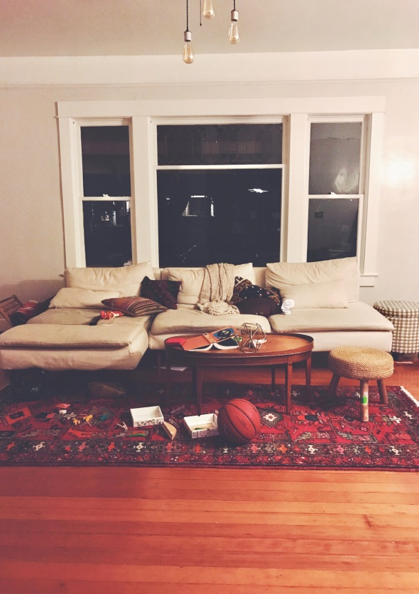 messy living room